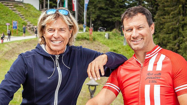 Alpen-Radshow, Hansi Hinterseer, Stephan Eberharter