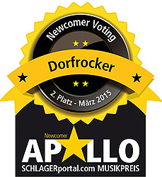 Dorfrocker, Newcomervoting, Apollo