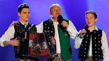 die Edlseer, Fritz Kristoferitsch mit Sohn Michael und Nico