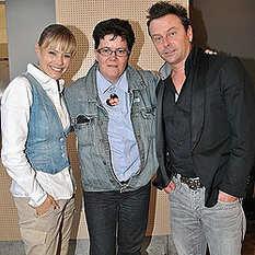 Francine Jordi und Florian Ast mit Fan