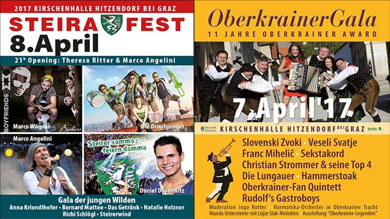 Steirafest und Oberkrainer-Gala in Hitzendorf