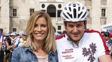 Sonja Weissensteiner, Marc Pircher, Alpen-Radtour